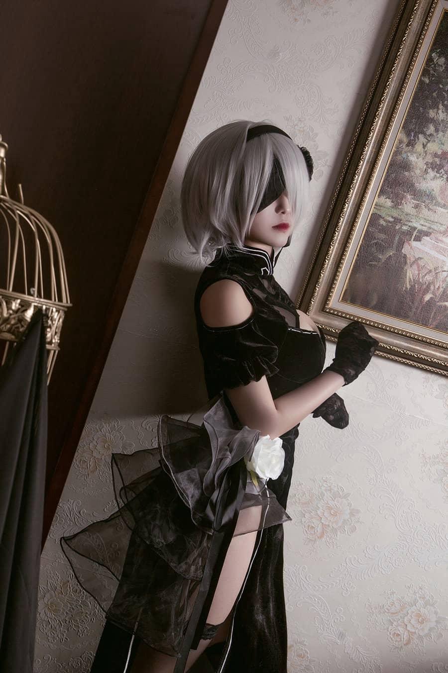 兔玩映画 旗袍的2B小姐姐 [45P190M]