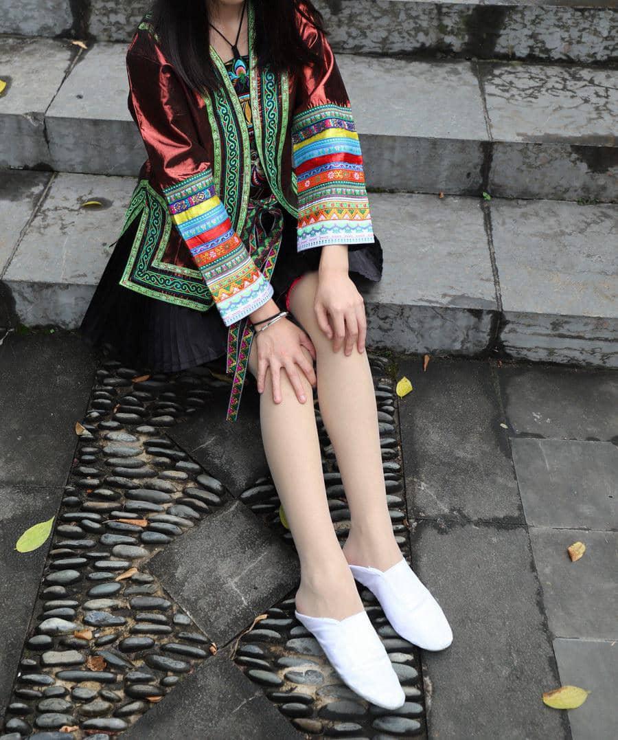 大西瓜爱牙膏 - 民族服装长丝 [166P1G]